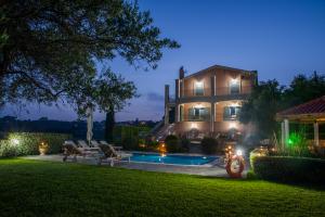 Amari Villa and Pool at Night